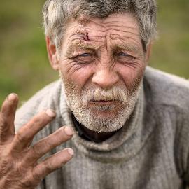 Hard life 2 by Andrei Grososiu - People Portraits of Men ( old, life, beard, blue eyes, portrait, man )