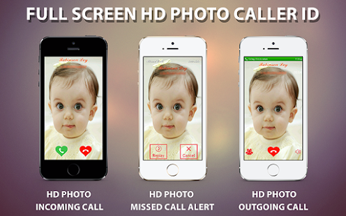 Full Screen HD Photo Caller ID- screenshot