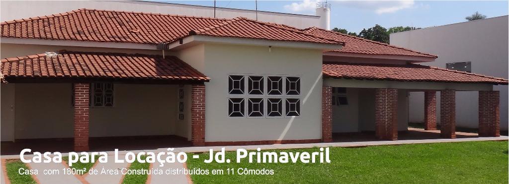 Casa para locação, Jardim Primaveril, Três Lagoas.