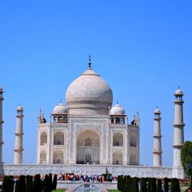 Taj Mahal  by Jasneet Sondhi - Buildings & Architecture Statues & Monuments ( #incredibleindia#tajmahal#love#blue#white#agra#india,  )