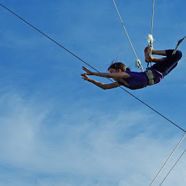 Girl On The Flying Trapeze by Kristin Patota - Sports & Fitness Fitness