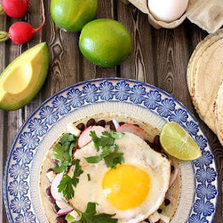 Black Bean & Egg Tostadas