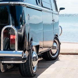 VW by Dom Del - Transportation Automobiles ( vw, sand, sea, ocean, day, beach, sun )