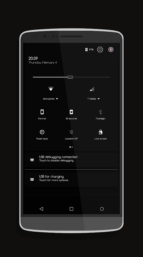 Pin Dark - CM13/CM12 Theme Screenshot 1