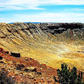 Meteor Crater, AZ. by David Walters - Landscapes Deserts ( canon, meteor crater, nature, az., landscape )