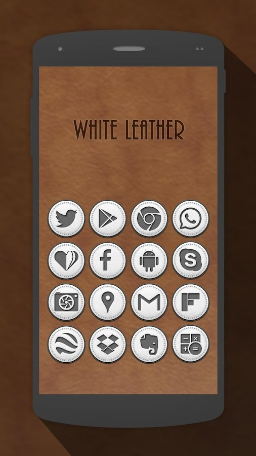 White Leather Icon Pack Screenshot