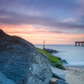 Rocks,Southwold Beach,Suffolk,U.K by Eric Bush - Landscapes Travel ( pier, suffolk, beach, rocks )
