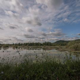 Oresje lake by Dubravka Krickic - Landscapes Travel ( water, clouds, waterscape, croatia, lake, oresje, landscape )