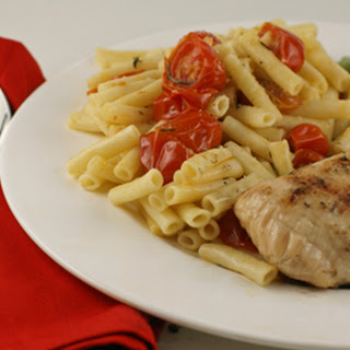 Grilled Chicken & Simple Pasta with Sauteed Tomatoes