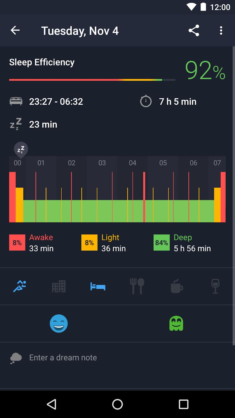 Runtastic Sleep Better: Sleep Cycle & Smart Alarm Screenshot 1