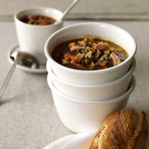 Smoky Lentil Soup with Ham Hock
