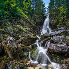 Waterfall in Western Tatras National Park by Laky Kucej - Landscapes Waterscapes ( waterfall )
