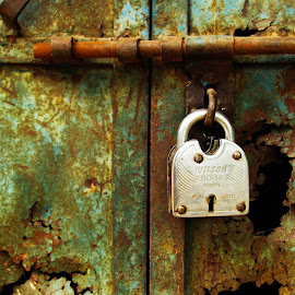 lock by Deepit Gupta - Abstract Patterns ( lock, rust, gare,  )
