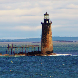 Weather Beaten Lighthouse by Larry Gray - Buildings & Architecture Public & Historical