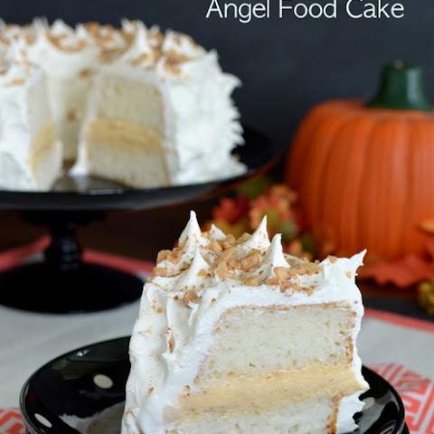Pumpkin Toffee Angel Food Cake