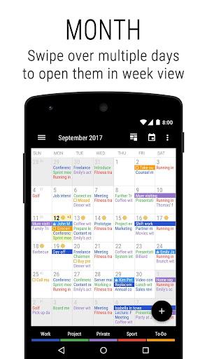 Business Calendar 2 screenshot 1