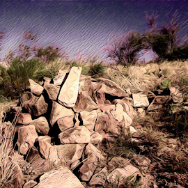 Rock Pile by Johnny Knight - Novices Only Landscapes ( creative, nature, color, art, landscape, rocks, rural )