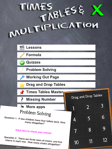 Times Tables Multiplication Maths Apk Download Free for PC, smart TV