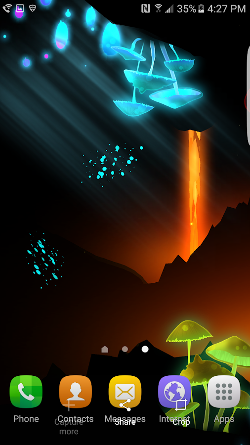 3D Fantasy Epic Lava Cave LWP Screenshot 1