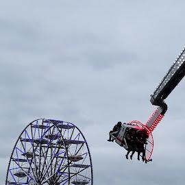 Amusemend rides at Muggia by Patrizia Emiliani - City,  Street & Park  Amusement Parks ( amusemend rides, italy, muggia )