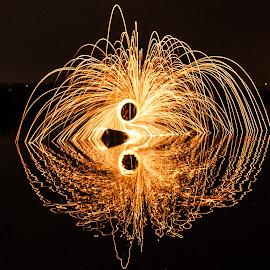 steel wool by Ionut Olaru - Abstract Fire & Fireworks ( steel wool, fireworks, night, wool )