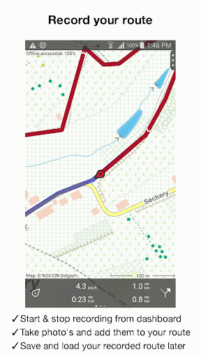 Topo GPS Belgium - screenshot