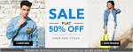 Coupons  for  Footwear Flat 50% Off
