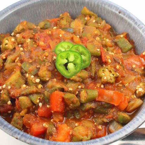 Spicy Stewed Okra and Tomatoes
