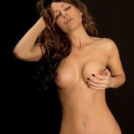 Feeling by Kens Yeaglin - Nudes & Boudoir Artistic Nude ( studio, charliekristine, nude, strobe lights, emotion )