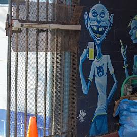 Come On In by Randi Hodson - City,  Street & Park  Neighborhoods ( street, street art, door, wall,  )