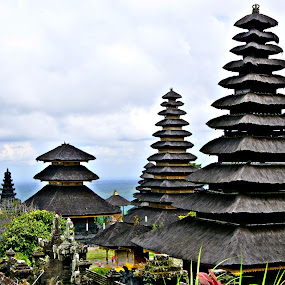 Tumpang Meru of Besakih Temple by Widiantara Made - Buildings & Architecture Statues & Monuments