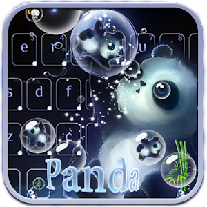 Bubble panda Keyboard Theme