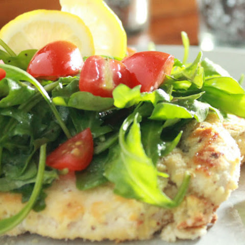 Chicken Milanese with Arugula and Tomato