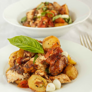 Roasted Potato and Chicken Caprese Salad