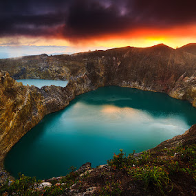 Montain Kelimutu Lake by Eddy Due Woi - Landscapes Mountains & Hills