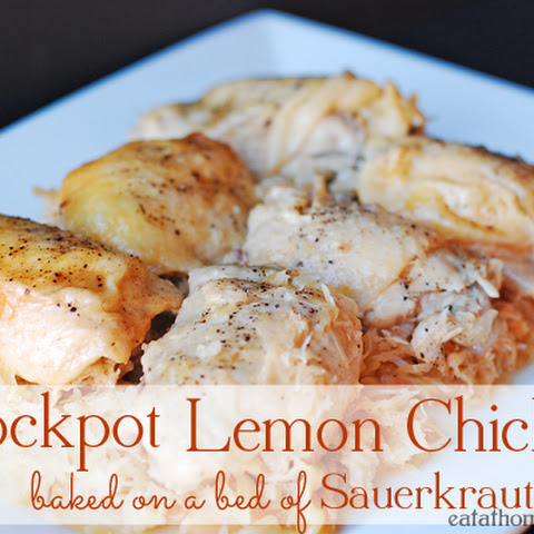 Lemon Chicken Baked on a Bed of Sauerkraut – A Slow Cooker