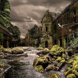 lost city by Eddie Leach - Digital Art Places ( street, digital art, apocolyps, composition, digital,  )