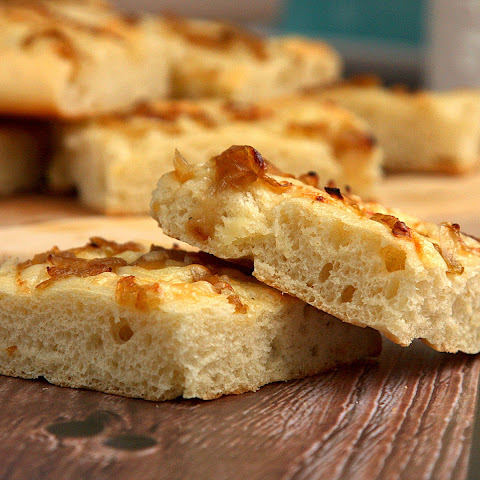 Caramelized Onion and Gruyere Focaccia