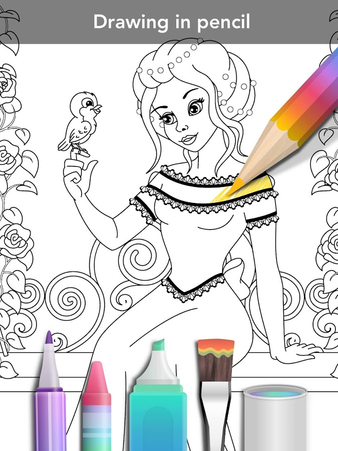 Princess coloring book Screenshot 10