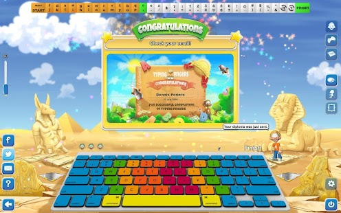 Typing Fingers - screenshot
