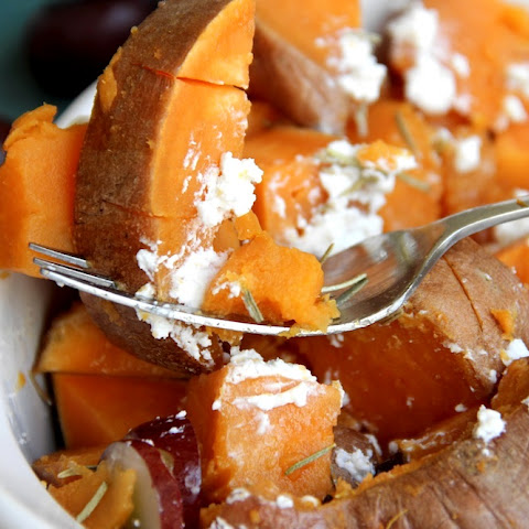 Rosemary & Goat Cheese Sweet Potatoes
