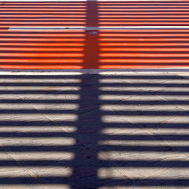 stripes by Nico Kranenburg - Abstract Patterns ( abstract, red, stripes, black )