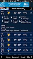 Screenshot of KCRG-TV9 First Alert Weather