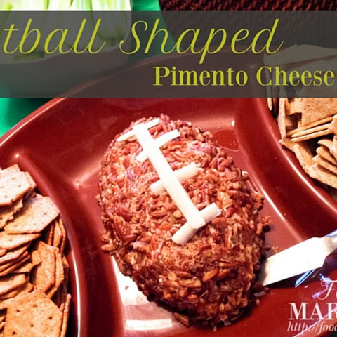 Football Shaped Pimento Cheese Ball