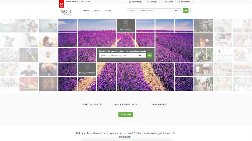 site web fotolia