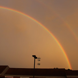 Make mine a Double! by Kim Jones - Landscapes Weather ( sky, landscape, light, dusk, rainbow, doublerainbow )