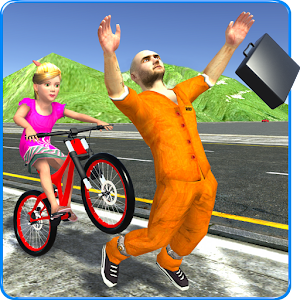 Kids Bicycle Rider Thief Chase For PC