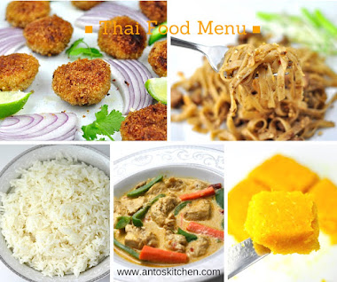 AN EXCELLENT THAI FOOD MENU