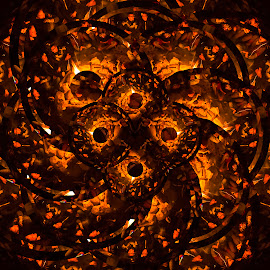 Campfire by Johan Kvint - Illustration Abstract & Patterns ( orange, art, kaleidoscope, trippy, patterns, fire )