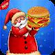 Santa Clause Cooking Burger